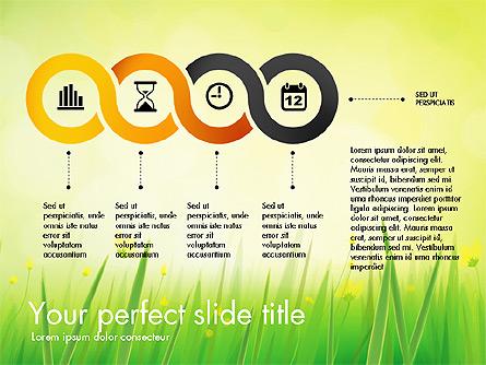 Green Grass Report Presentation Template, Master Slide