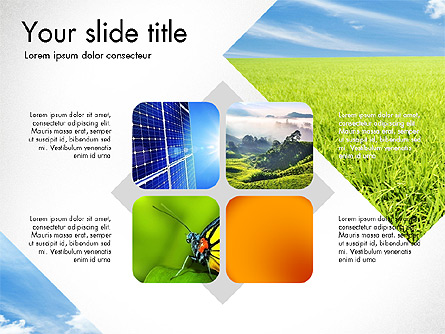 Sustainability Presentation Deck Presentation Template, Master Slide
