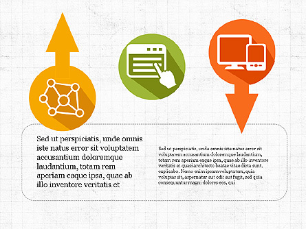 Process Arrows with Icons Presentation Template, Master Slide
