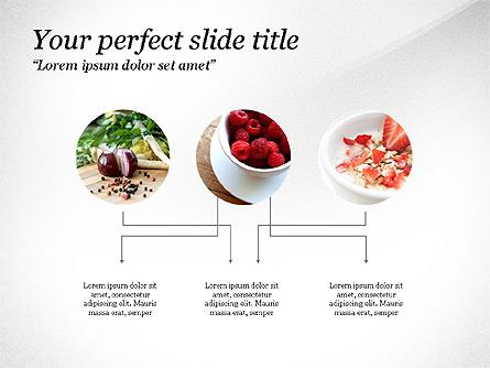 Cooking Ingredients Presentation Concept Presentation Template, Master Slide