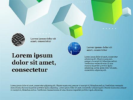 Presentation Deck with Cubes on Background Presentation Template, Master Slide
