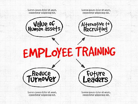 Employee Training Process Diagram Presentation Template, Master Slide