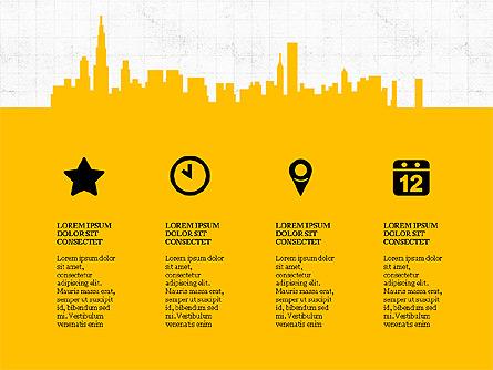 Cityscape Silhouette Presentation Concept Presentation Template, Master Slide