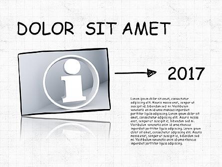 Mind Map Presentation Concept Presentation Template, Master Slide