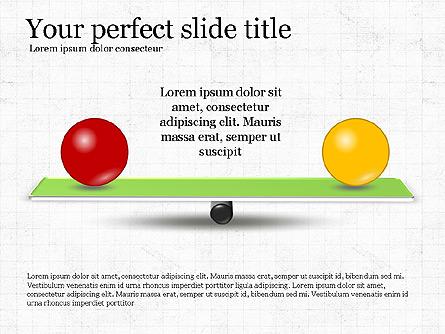 Balance Presentation Concept Presentation Template, Master Slide