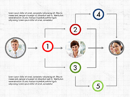 Partnership Flowchart Template Presentation Template, Master Slide