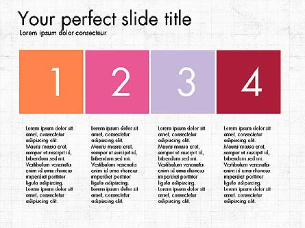 Numbered Items Agenda Presentation Template, Master Slide