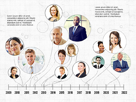 Business Networking and Team Presentation Concept Presentation Template, Master Slide