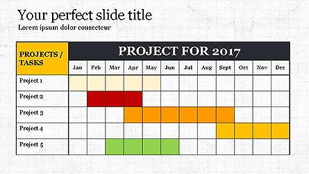 Gantt Chart Template Presentation Template, Master Slide
