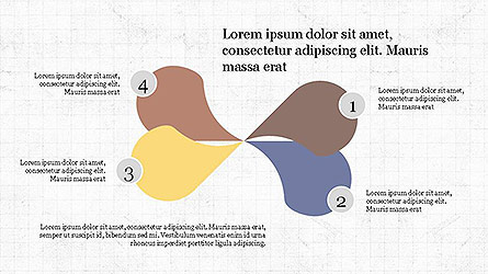 Creative Pie Chart Collection Presentation Template, Master Slide