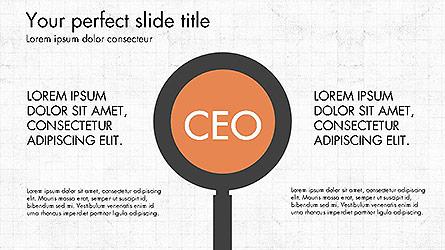 CEO Organization Chart Presentation Template, Master Slide
