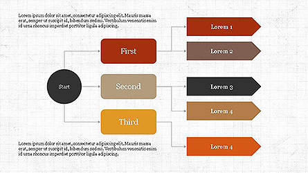 Logical Flow Chart Template Presentation Template, Master Slide
