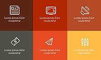 Grid Layout Brochure Presentation In Flat Design