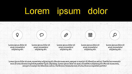 Presentation with Icons Presentation Template, Master Slide