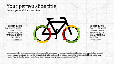 Colorful Circular Process Diagrams Presentation Template, Master Slide