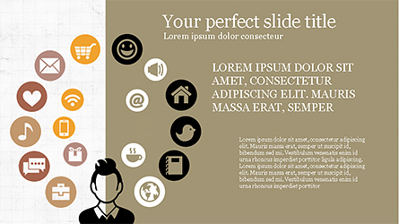 Lifestyle Presentation Infographic Presentation Template, Master Slide