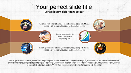 Options and Photos Concept Presentation Template, Master Slide