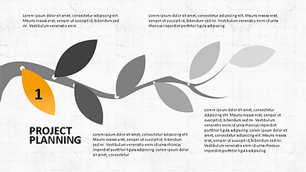 Tree Branch Stage Diagram Presentation Template, Master Slide