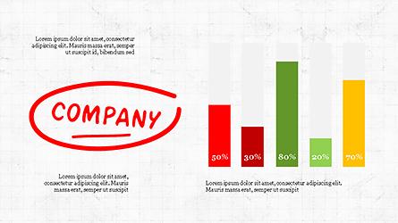 Company Success Org Chart Presentation Template, Master Slide