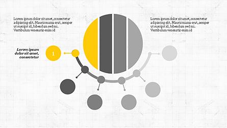 Steps Around Diagram Presentation Template, Master Slide
