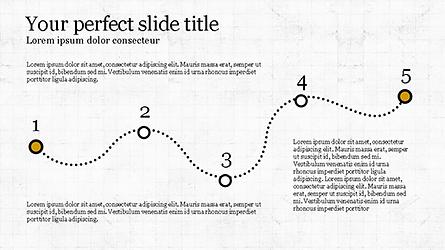 Line Chart Toolbox Presentation Template, Master Slide