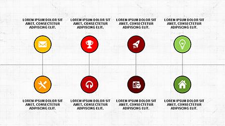 Flat Agenda Toolbox Presentation Template, Master Slide