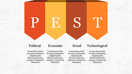 PEST Analysis Slide Deck Presentation Template, Master Slide