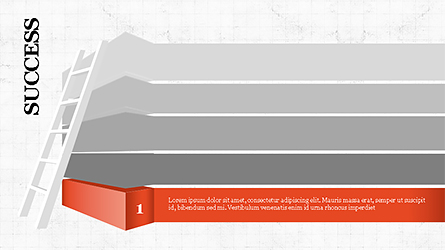 Steps to Success with Ladder Presentation Template, Master Slide