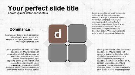 DISC Diagram Personality Presentation Template, Master Slide