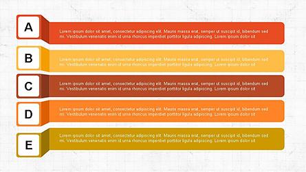 Agenda Options Ribbon Style Presentation Template, Master Slide