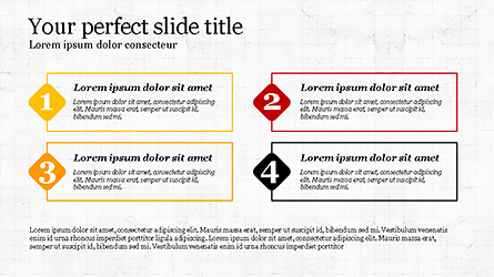 Presentation with Numbered Text Boxes Presentation Template, Master Slide