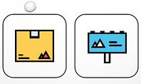Process and Options with Flat Colored Icons