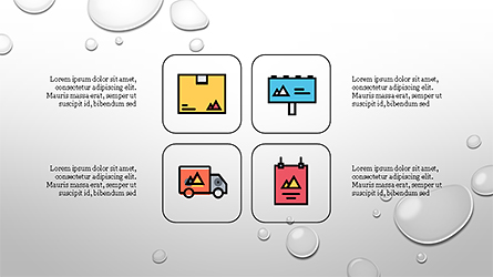 Process and Options with Flat Colored Icons Presentation Template, Master Slide