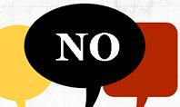 Yes No Presentation Concept