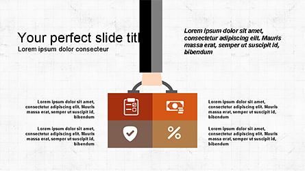 Flat Shapes Business Presentation Template Presentation Template, Master Slide