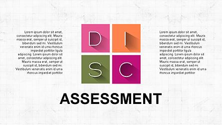 DISC Diagram Slide Deck Presentation Template, Master Slide