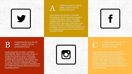 Grid Layout Social Media Presentation Template Presentation Template, Master Slide