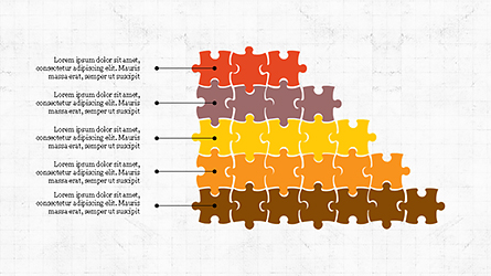 Puzzle Pieces Presentation Template Presentation Template, Master Slide