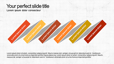 Sequential Process Slide Deck Presentation Template, Master Slide