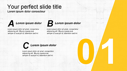 Presentation with Numbered Slides Presentation Template, Master Slide
