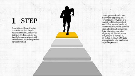 Runner and Stages Diagram Presentation Template, Master Slide