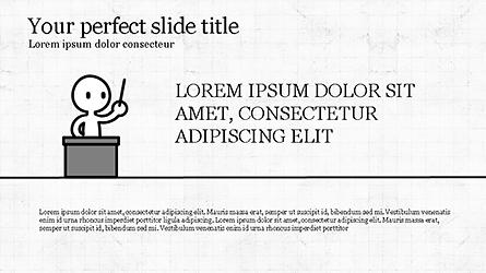 Presentation Template with Stick Man Figure Presentation Template, Master Slide