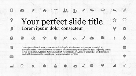 Icons and Text Boxes Presentation Template, Master Slide