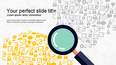 Search and Analysis Presentation Concept Presentation Template, Master Slide