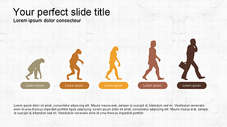 Evolution Diagram with Infographics for Presentations Presentation Template, Master Slide