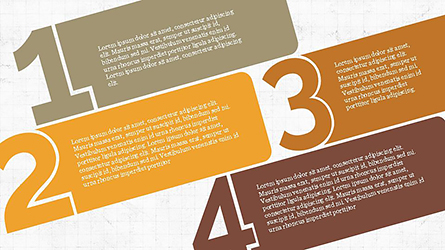 Numbered Text Banners Presentation Template, Master Slide