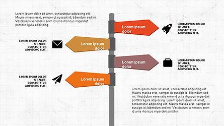 Geometrical Arrows Shapes and Options Presentation Template, Master Slide
