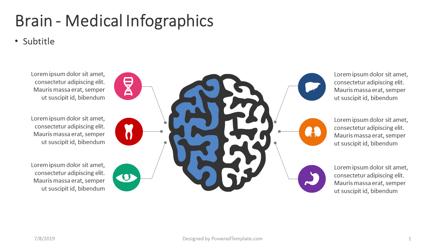 Brain - Medical Infographics Presentation Template, Master Slide