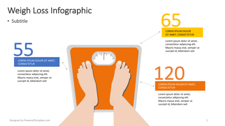 Weight Loss Infographic Presentation Template, Master Slide