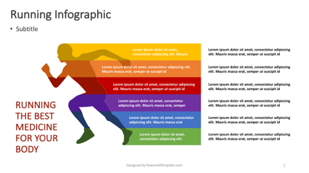 Running - Wellness Infographic Presentation Template, Master Slide